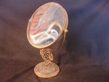 "Old Vtg Brass Victorian Style Decorative Vanity Dresser Mirror 10"" Tall"