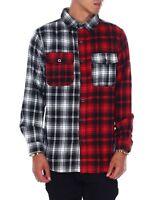 Smoke Rise Red Split Pattern Flannel Shirt
