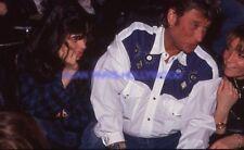 JOHNNY HALLYDAY 90s DIAPOSITIVE DE PRESSE ORIGINAL VINTAGE #297
