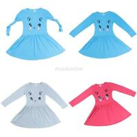 2-7Y Lovely Baby Kids Girls Clothes Long Sleeve Tops Skirt Party Princess Dress