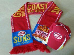 2011 Inaugural GOLD COAST SUNS Scarf & Reebok Cap NEW