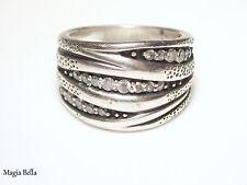 "Ring Size 6 R2035 $79 Silpada Sterling Silver, Cubic Zirconia ""Organics"""