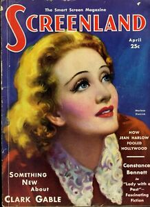 SCREENLAND  • APR. 1932 • MARLENE DIETRICH cover