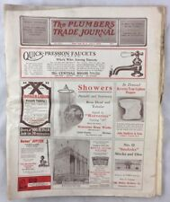 1919 The Plumbers Trade Journal Steam Hot Water Fitters Magazine Advertising +