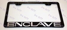 Buick ENCLAVE Stainless Steel Black License Plate Frame Rust Free Caps