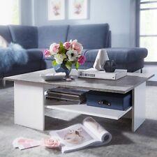 FineBuy Couchtisch 90x60 cm Wohnzimmertisch mit Ablage Sofatisch Tisch Design