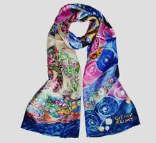 100% silk scarf(Gustav Klimt 'the bathers') Free wrapping available160x42cm