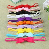 10pcs Newborn Baby Girl Infant Toddler Headband Bow Ribbon HairBand Accessory SE
