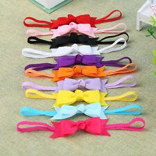 10pcs Newborn Baby Girl Infant Toddler Headband Bow Ribbon HairBand Accessory SK