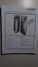 Bose 401 stereo speaker system service manual original repair book