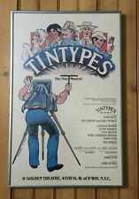 Original 1980 Tintypes Window Card Broadway Play Poster *Framed!