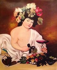 """Caravaggio: Young Bacchus Painting Reproduction 16""""x20"""""""
