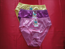 Women Panties Bikinis GRACE SZ.2XL Bronze Brown Nylon Satin W//Decoration Elastic