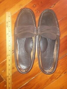 Quoddy Suede Penny Loafers 11.
