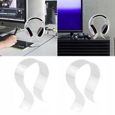 Headphone Stand Headset Holder Desk Display Hanger Rack Crystal Acrylic