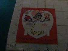 vintage orig. used VALENTINE card w Black cover, Preserve puns,