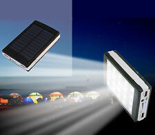 CARGADOR SOLAR PORTATIL MOVIL Y TABLET 10000 mAh CON LINTERNA LUZ LED POWER BANK