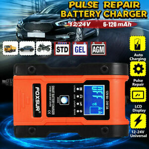 12V/24V Automatic Lithium LiFePO4 Smart Battery Charger Car Truck Motorcycle