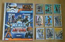 Rebel Attax Serie 1 Sammelmappe + alle 186 Karten komplett Set Topps Star Wars