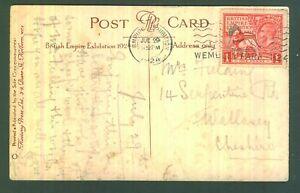 GB 1924 BRITISH EMPIRE EXHIBITION OFFICIAL POSTCARD 1d Stamp Burmese Pavilion