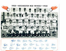 1950 ROCHESTER RED WINGS TEAM 8X10  PHOTO RICE BILKO  BASEBALL NEW YORK