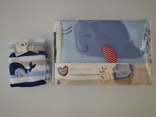 Whale Ocean Anchor Infant Nursery Baby Crib Bedding Set Shower Gift Set