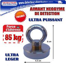 AIMANT Néodyme de détection - Force d'adhérence 85 Kg + Anneau de levage