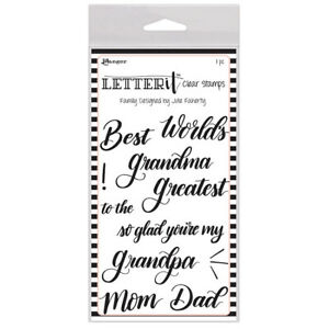 Ranger Letter It Collection Clear Acrylic Stamps Family lec65784