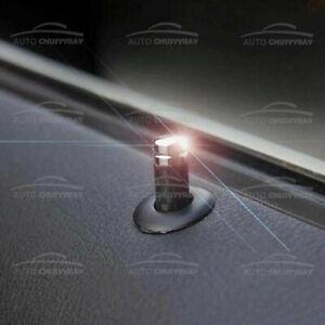 4Pcs Universal Carbon Fiber Auto Car Interior Dash Door Lock Handles Knob Pins