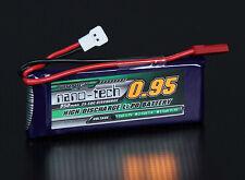 New Turnigy nano-tech 950mAh 1S 25C 50C Battery Lipo Walkera V120 X100 JST