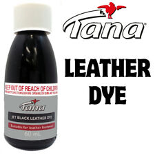 Tana Jet Black Leather  Dye - 60ml - Suitable for Leather,
