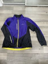 Ronhill Lightweight Womens Running Jacket Purple with Reflective strips Size 10
