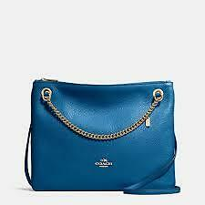 Coach Bag F52901 Pebble Convertible Crossbody Teal Agsbeagle COD