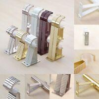 New Metal Curtain Pole Bracket Rod Holder Heavy Duty Curtain Hook Durable S Hook