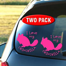 TWO PACK - I Love My Chinchilla - Rabbit, Hamster, Ferret, Pet, Toy - FREE S&H