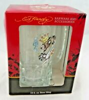 "Ed Hardy Beer Mug Stein Panther King 6"" Tall 16 ounce with Original Box NOSOB"