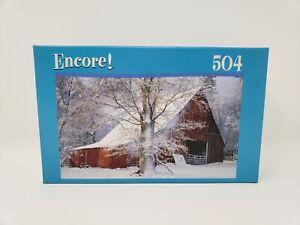 Encore Winter Barn Scene Puzzle - Factory Sealed - 504 Pieces