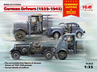 ICM 35642 - 1/35 German Drivers (1939-1945) WWII (4 figures) scale model kit