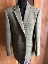 William Hunt Chaqueta deportiva Savile Row 42R Harris Tweed Verde Musgo Herr/Check