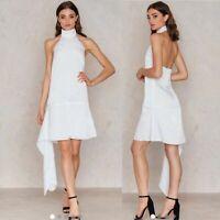 StyleStalker Women's Dress Revolve White Delta Halter Recruitment NWT Size S