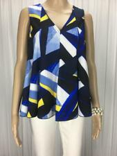 ** BASQUE ** Size 6 Blue White Occasion Evening Flare Top - (A984)