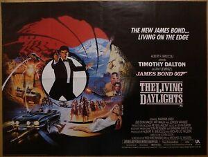 THE LIVING DAYLIGHTS (1987) - original UK quad film/movie poster, James Bond 007