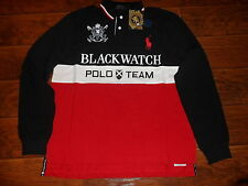 NWT POLO RALPH LAUREN Men Custom Fit BIG PONY Mesh Polo Shirt BLACKWATCH, LARGE.
