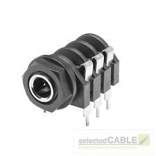 HICON 6,3mm Klinke 3-pol Einbaubuchse horizontal Löttechnik Audio   HI-J63S-PH