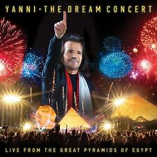 YANNI - THE DREAM CONCERT:LIVE F.T.GREAT PYRAMIDS OF EGYPT   CD+DVD NEW+
