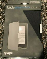 Amazon Kindle Paperwhite Leather Cover Case  Black Genuine