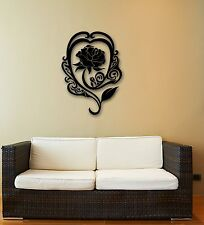 Wall Stickers Vinyl Decal Cool Room Decor Rose Flower Romantic Love (ig478)
