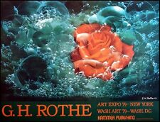 GH Rothe Offset Lithograph  ROSE poster unsigned  Make an Offer!