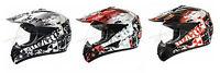 Crosshelm mit Visier Quad ATV Enduro Helm Motorradhelm Schwarz Weiß Rot S M L XL