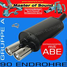 MASTER OF SOUND SPORTAUSPUFF VW GOLF 1 CABRIO 1.3L 1.6L 1.8L